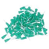 WEONE Grün 1/2 Zoll 18GA Kunststoff-Spirale Stecker Dosiernadeln Mit PP stumpfe Spitze Nadel (100 Stück)