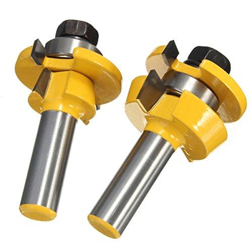 ILS - RB11 Shaker Kegelschiene und Stile Kleber Gelenk Router Bit für Schrank Tür 1/2 Zoll (Shaker-schrank-türen)