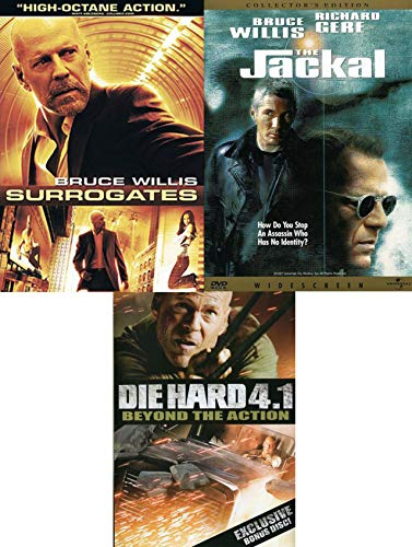 Ruthless Assassin Bruce Willis Stars The Jackal & Surrogates Double Feature - Bonus beyond the action 4.1