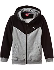 Puma Jacke Fun TD Hooded Sweat Jacket Terry B - Cortavientos para niño, color negro, talla 128 cm