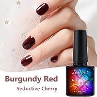 Joligel Smalto Semipermanente Gel per Unghie Ciliegio Rosso, Smalti di Gel  LED UV 10ml per