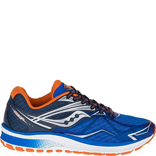 Saucony Ride 9 Running Shoe (Little Kid/Big Kid) Blue | Orange