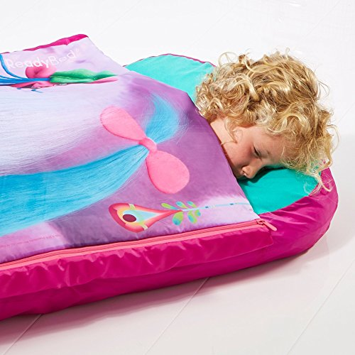 Readybed Trolls Junior Inflatable Kids Air Bed And Sleeping Bag In