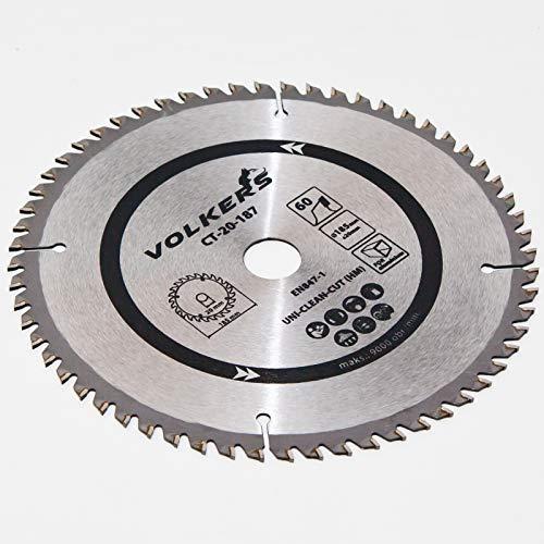 HM Kreissägeblatt Ø 185 x 20 / 16 mm 60 Zähne Sägeblatt für Holz Plexiglas Alu Cut In China-platten