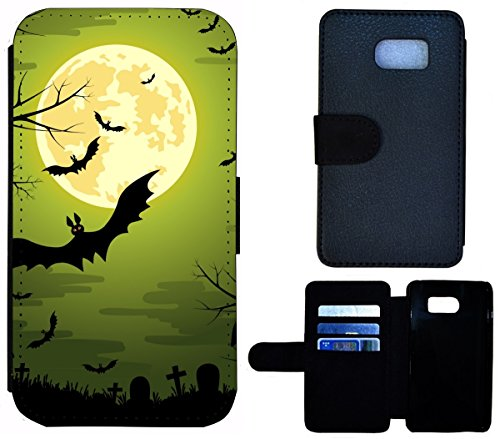 �lle Handy Tasche Etui Case für (Samsung Galaxy S6 Edge G925, 1505 Fledermaus Bat Cartoon Halloween) (Cartoon-halloween-fledermäuse)