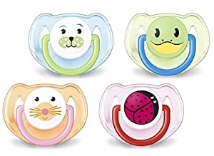 Philips AVENT SCF182/34 BPA-Free Animal Soothers (6-18 Months) (Set of 2) Designs May Vary