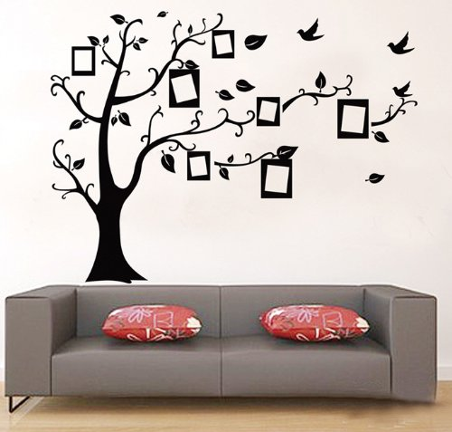 ufengke® foto in bianco albero cornice muro adesivi murali, camera ... - Stickers Murali Camera Da Letto