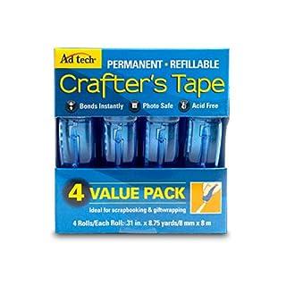 Ad-Tech Permanent Glue Runner 4-Pkg, 0.31 x 315