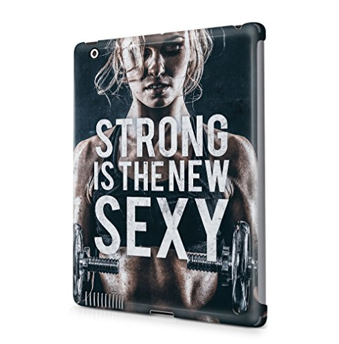 Maceste Gym Strong is The New Sexy Kompatibel mit Apple iPad 2 / iPad 3 / iPad 4 SnapOn Hard Plastic Tablet Protective Fall Handyhülle Case Cover (3 Ipad Sexy Fällen)