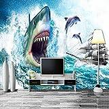 Papier peint requin pour chambre d'enfant, couloir, restaurant