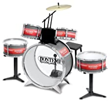 This drum set is as close to a pro drum set as it gets for young rock drummers. It includes 5 drums and a cymbal that produce authentic sounds that can't be replicated on electric drum sets. Supplied with an adjustable stool. Drum Setup Bass drum dia...
