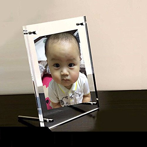 YUCH Bilderrahmen Crystal Zertifikat Frame Acryl Porträt Set Tabelle A4 -