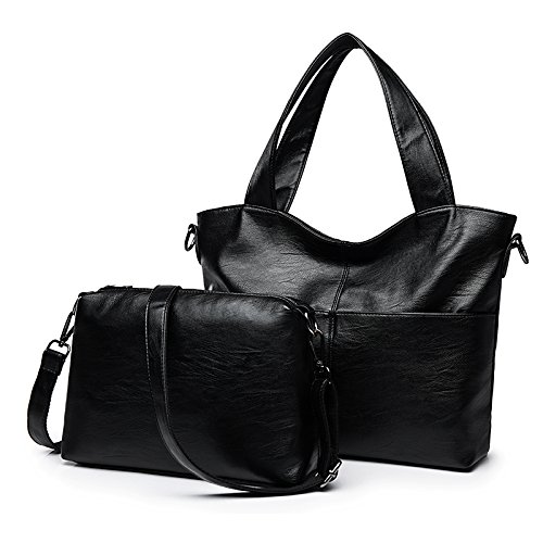 Sprnb Messenger Tutti-Match Femmina Nero Borsa Tracolla Borsa Tote Bag,Lilla Black