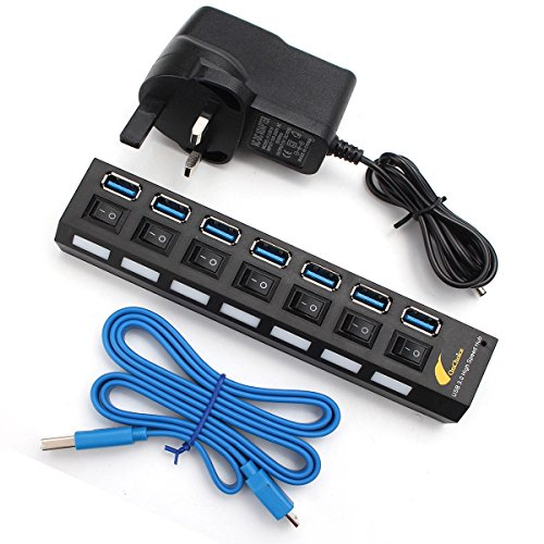 onchoice-usb-30-7-port-hub-with-on-off-switch-included-uk-ac-power-adapter-with-cable-100cm-for-desk