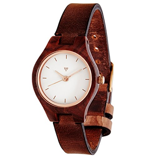 Kerbholz Damen-Armbanduhr Adelheid Analog Quarz Leder 0612524230940