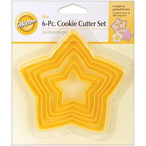 Wilton Cookies (Wilton Ausstecher-Set, sternförmige Ausstecher, können ineinander gestellt Werden, 6-teiliges Set)
