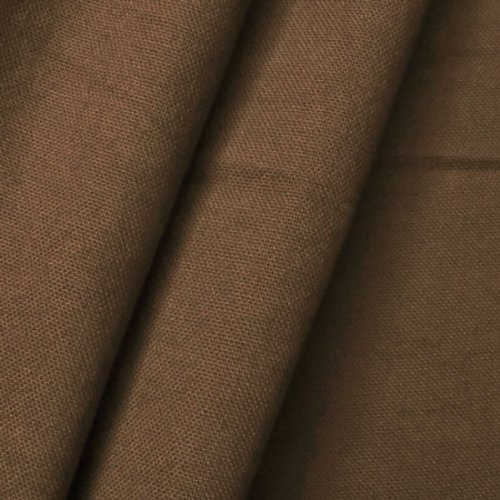 STOFFKONTOR 100% Baumwolle Canvas Stoff Meterware Braun -