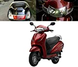#9: Auto Pearl - Chrome Accessories Headlight, Tail Light, Indicator and Mirror Cover For - Honda Activa 3G