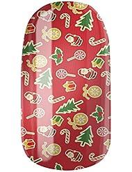 Nagelfolien/Christmas World selbstklebend mit individuellen Designs by Glamstripes- made in Germany. 12 Nail Wraps äußerst strapazierfähig mit langer Haltedauer