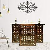 Shagun Arts Sheesham Wood Bar Cabinet for Home   Wooden Bar Cabinet   Brown