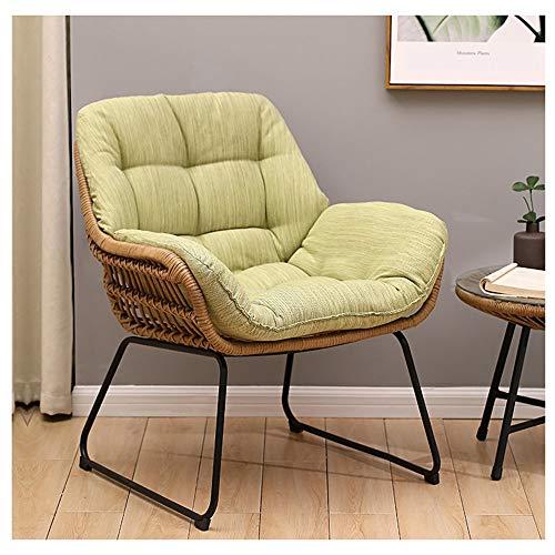 TAO Hellgrün Lazy Couch Tatami Bequemer Rattan Stuhl Schlafzimmer Balkon Nap Freizeit Kleines Sofa kann mit 69,5 × 71,5 cm kombiniert Werden (Size : A(1*Sofa)) -
