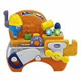 Talking Carpenter is an educational toy that helps your child develop language skills in a playful and stimulating way A workbench full of tools of the trade and activities A vice tape measure drill a hammer screwdriver and saw help develop coordinat...