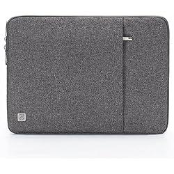 "NIDOO 14 Pouces Imperméable Housse Protection Ordinateur Portable pour 14"" Lenovo Chromebook S330 / Lenovo ThinkPad A485 E485 E490 T480s / HP ProBook 645 G4 /15.6"" Lenovo Thinkpad T590, Gris"