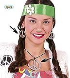 Set Collana e Orecchini Hippie Accessori Carnevale