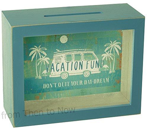 Vacaciones Fondo marco madera panel frontal cristal