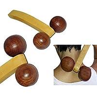 Regalo de la acción de gracias para sus seres queridos Madera 2 de la bola de rodillo pequeño Massager, Massager El alivio del dolor