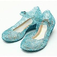 Katara - Zapatos para disfraz de princesa color Azul, EU . 29 (tamaño del fabricante 31)