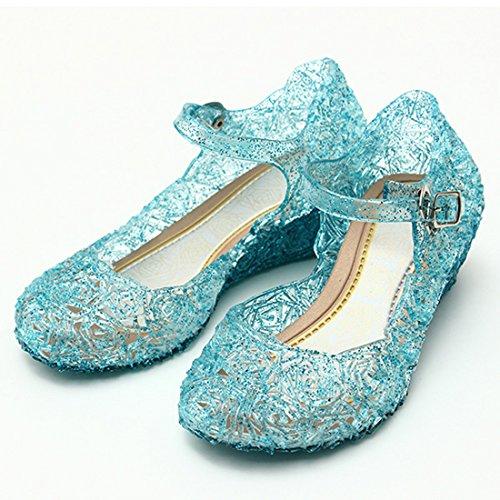 Katara - Frozen Eiskönigin Prinzessin Elsa, Cinderella Schuhe für Kinder-Kostüme und Prinzessinenkleid, Gr. 29, Blau