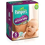 Pampers Active Baby Diapers, Small (22 Count)
