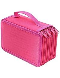 Portable Pencil bag 4 strati grande capacità tela portapenne custodia materiale  scolastico 5d53b83c5d98