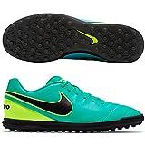 Nike Tiempox Rio III TF, Scarpe da Calcio Uomo, Verde (Verde (Clear Jade / Black-Volt)), 42 1/2 EU
