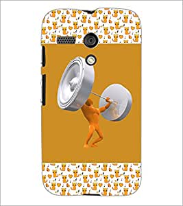 PrintDhaba Funny Image D-5694 Back Case Cover for MOTOROLA MOTO G (Multi-Coloured)