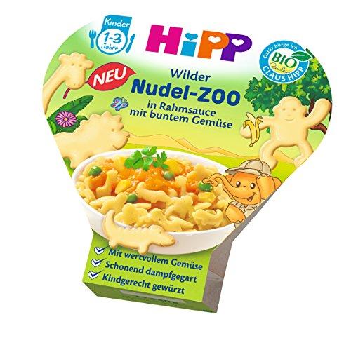 HiPP Wilder Nudel-Zoo in Rahmsauce mit buntem Gemüse, 6er Pack (6 x 250 g)