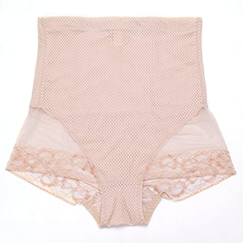 MultiWare Women Ladies High Waist Underwear Knicker Control Slimming Panties Body Shaper Beige XXXL