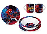 Star Licensing Set Pappa in Ceramica - Piatti e Tazza Marvel - Spiderman
