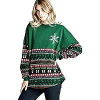Hanomes Damen pullover, Xams Frauen Schneeflocke O Neck Tops Langarm Sweatshirt Pullover Bluse Tops preisvergleich bei billige-tabletten.eu