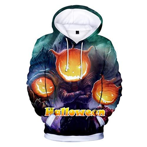 Kids Ringer Kostüm - Berimaterry Damen Herren Große Größen Hoodie Halloween 3D Gedruckt Langarm Sweatshirt Unisex Tasche Kordelzug Kapuzenpullover Party Karneval Kostüm