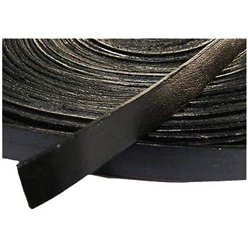 Lederband  Rindleder  1 Meter  schwarz  2 mm dick  pflanzlich gegerbt