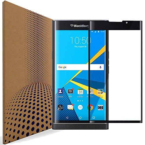 VLP 3D Biegekante BlackBerry Priv Panzerglas Schutzfolie, Anti Kratzen Schutzglas Schutz Folie Bildschirmschutzfolie für BlackBerry Priv (Black)