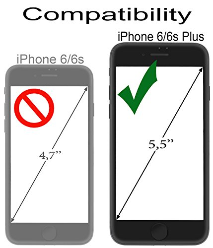 StilGut Premium cover, coque en cuir nappa pour iPhone 6s Plus, édition LIKE BERLIN, noir nappa Noir nappa