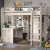 Parisot Furniture Hochbett mit extra Breite