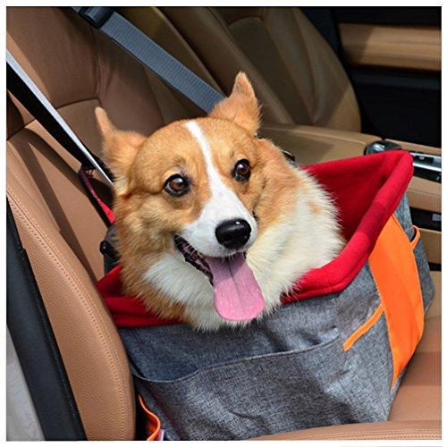 Petacc Cubierta de asiento perro Práctico asiento de coche para mascotas...