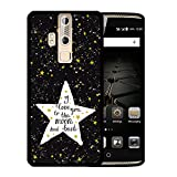ZTE Axon Elite Hülle, WoowCase Handyhülle Silikon für [ ZTE Axon Elite ] Star Satz - I Love You To The Moon And Back Handytasche Handy Cover Case Schutzhülle Flexible TPU - Schwarz