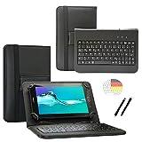Deutsche Qwertz Tastatur für ODYS Pace 10 + LTE Tablet PC Etui Schutz Hülle mit Touch Pen - Tastatur 10.1 Zoll Schwarz
