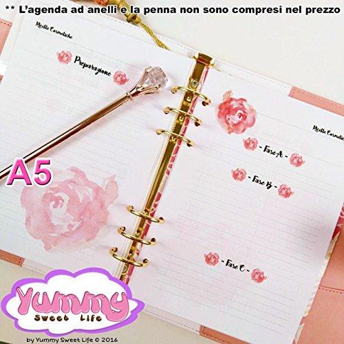 a5-refill-handmade-per-agende-planner-ricette-spignatto-cosmetici-fatti-in-casa-rose