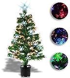 Möbelbörse Weihnachtsbaum 120cm hoch mit Farbwechsel Christbaum Tannenbaum Weihnachtsdekoration 9 Verschiedene Lichteffekte